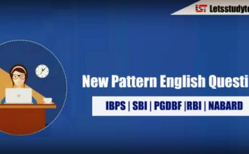 New Pattern English Questions for SBI PO/Clerk 2018