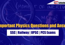 Important Physics Questions and Answer PDF for SSC