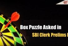 Box Puzzle Asked in SBI Clerk Prelims Exam 2018 – Download PDF Here