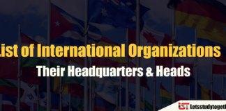 International Organizations and their Headquarters & Heads