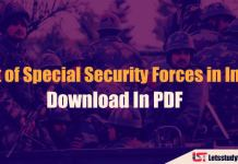 List of Special Security Forces in India - Download In PDF
