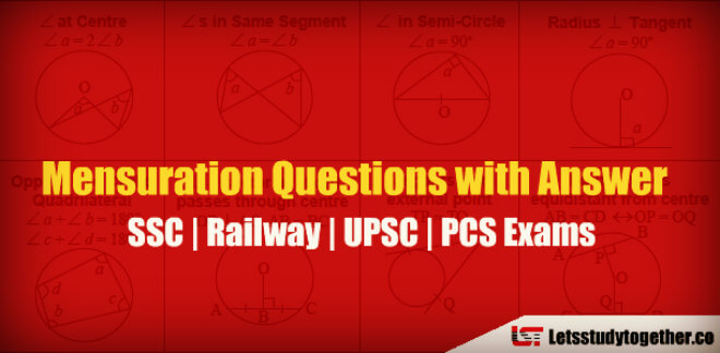 Mensuration Questions with Answer for SSC CGL Exam 2018