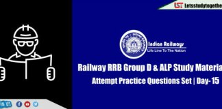 RRB Railway Group D & ALP Practice Questions Set | Day-15