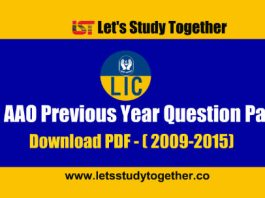 LIC AAO Previous Year Question Paper (2009-2015) - Download PDF
