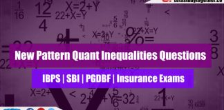 New Pattern Quant Inequalities Questions