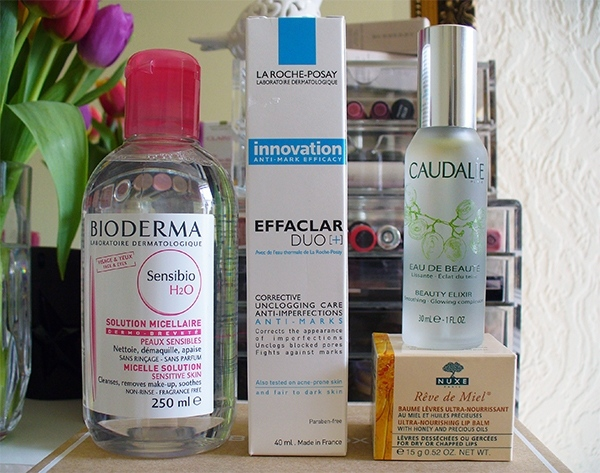 A selection of French Skincare