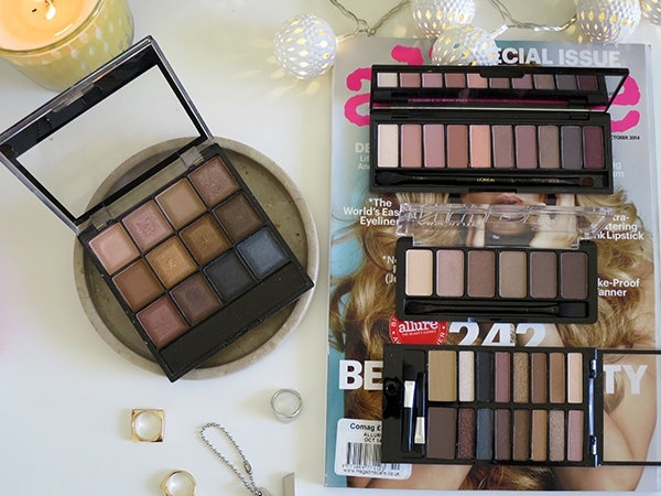Four Neutral Eyeshadow Palettes