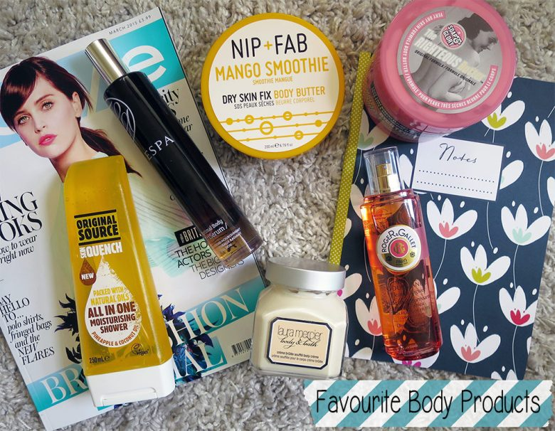Favourite body products