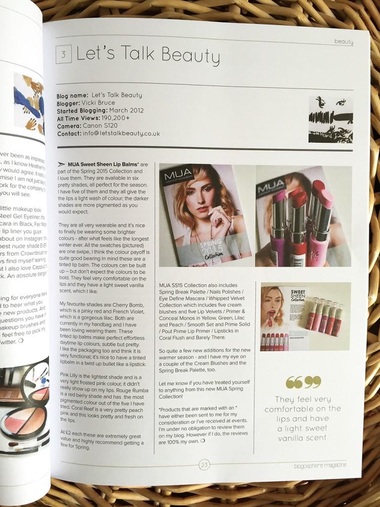 Blogosphere Magazine Feature