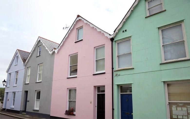 Pastel Houses Fowey