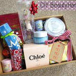 DIY Beauty Hamper With Boots