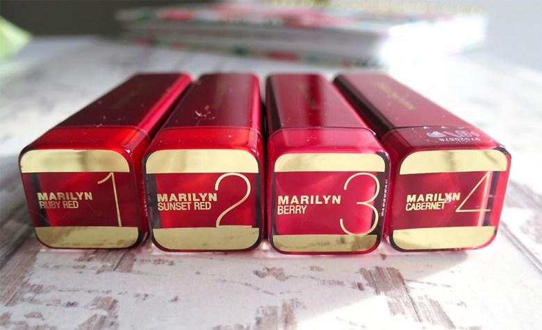 Marilyn Monroe Lipsticks Max Factor