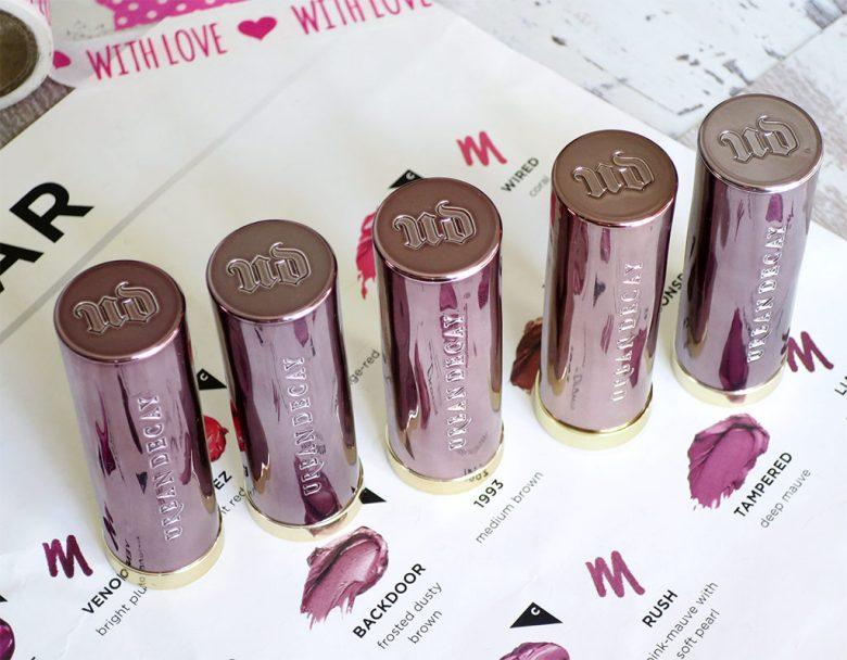 UD Vice Lipsticks