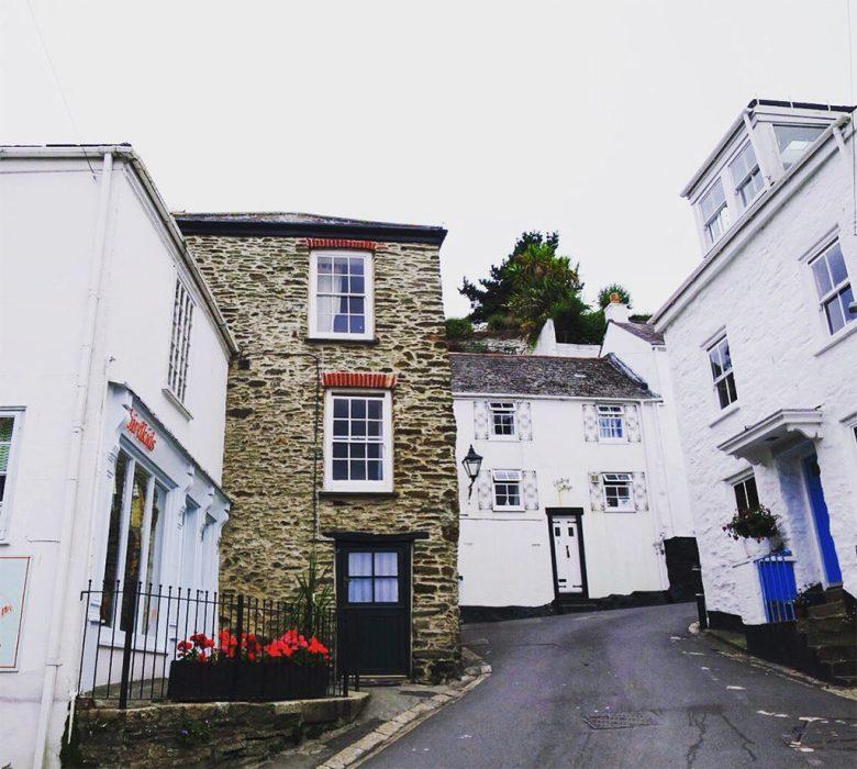 Fowey High Street Cornwall