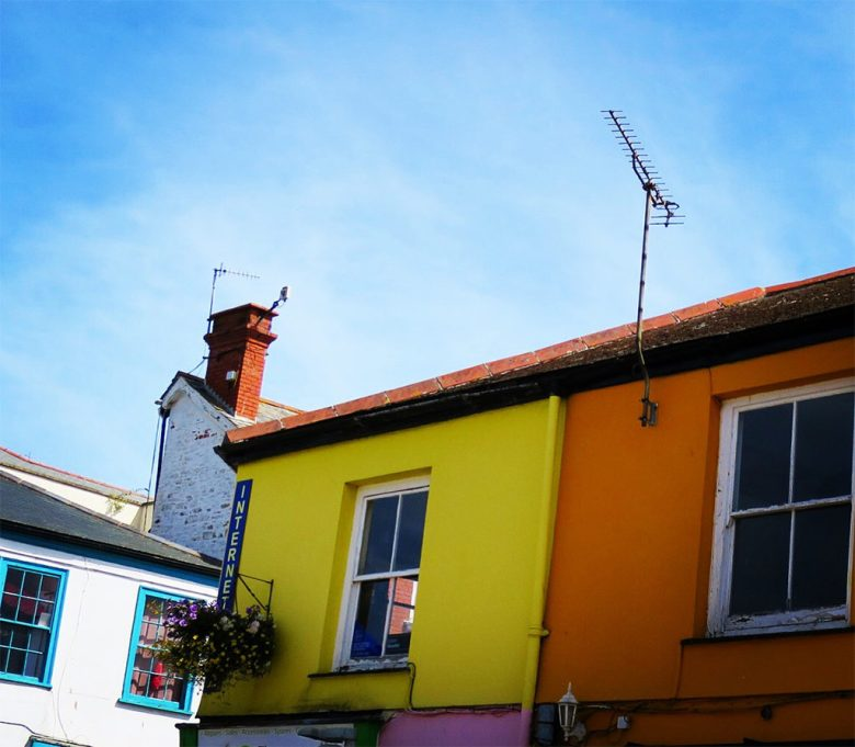 Colourful Houses Truro Cornwall