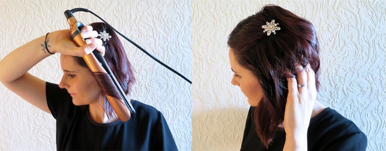 glitztheseason ghd party hair tutorial