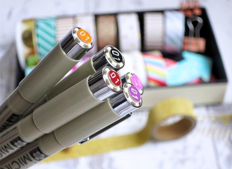Favourite Pens for Bullet Journal