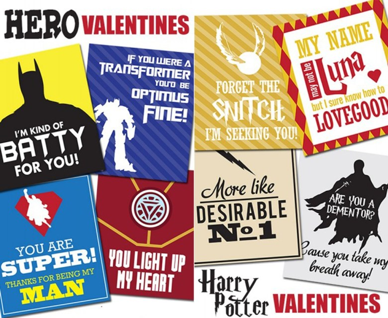 movie themed free valentine cards