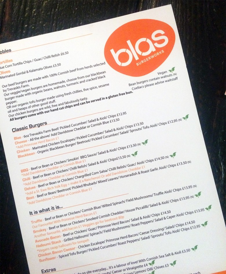 Blas Burger Works Vegan Options