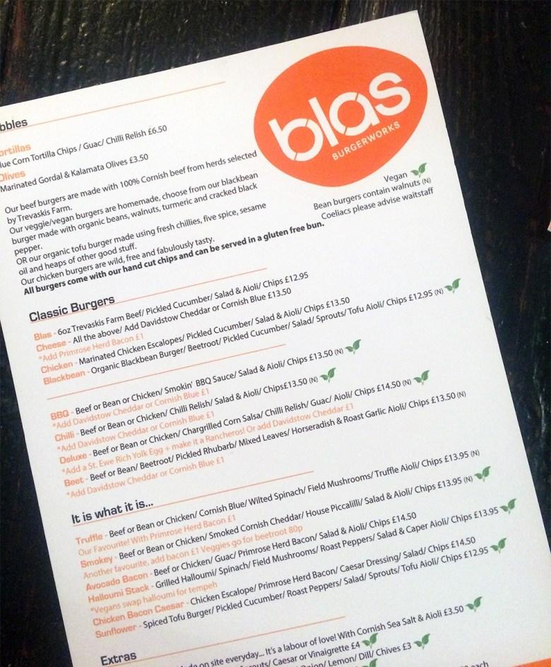Blas Burger Works Vegan Options