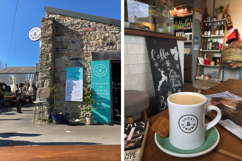 Short and Strong Coffee Shop Cornwall