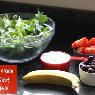 Spinach & Kale Breakfast Smoothie