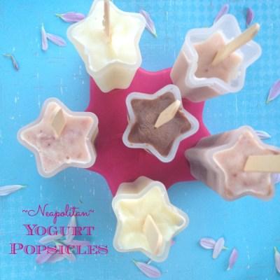 Neapolitan Yogurt Popsicle Recipe
