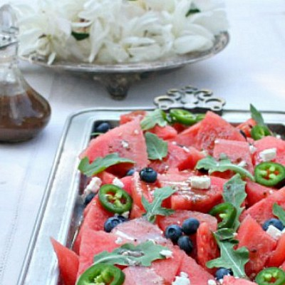 Balsamic Watermelon Salad Recipe