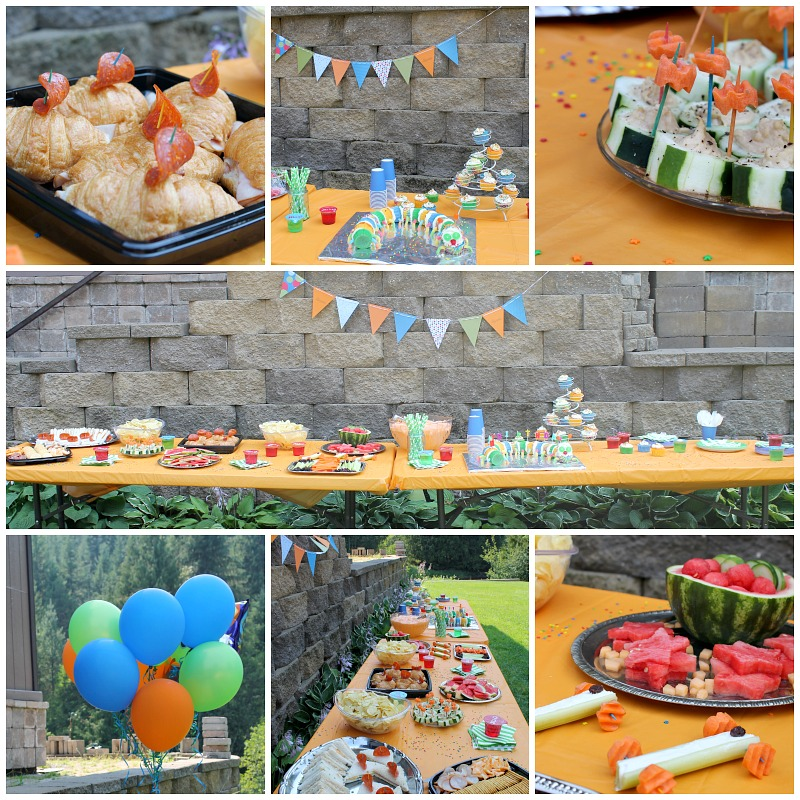 kids birthday party buffet
