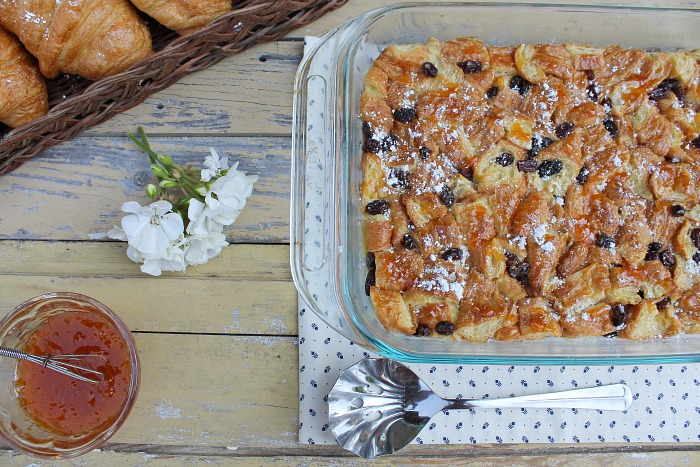 croissant raisin pudding with apricot recipe