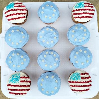 Ryder Cup cupcakes