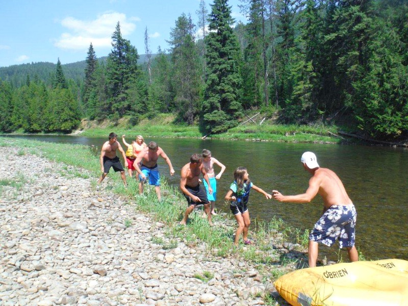 floating down the moyie river