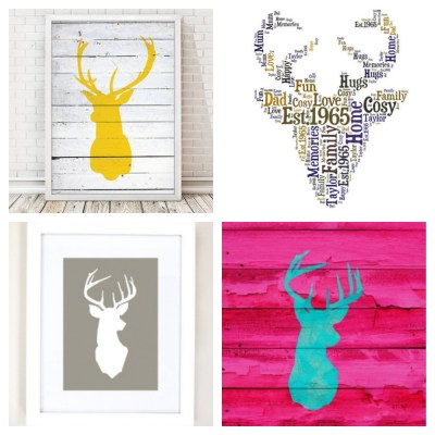 Home Decor: Stag Heads Everywhere