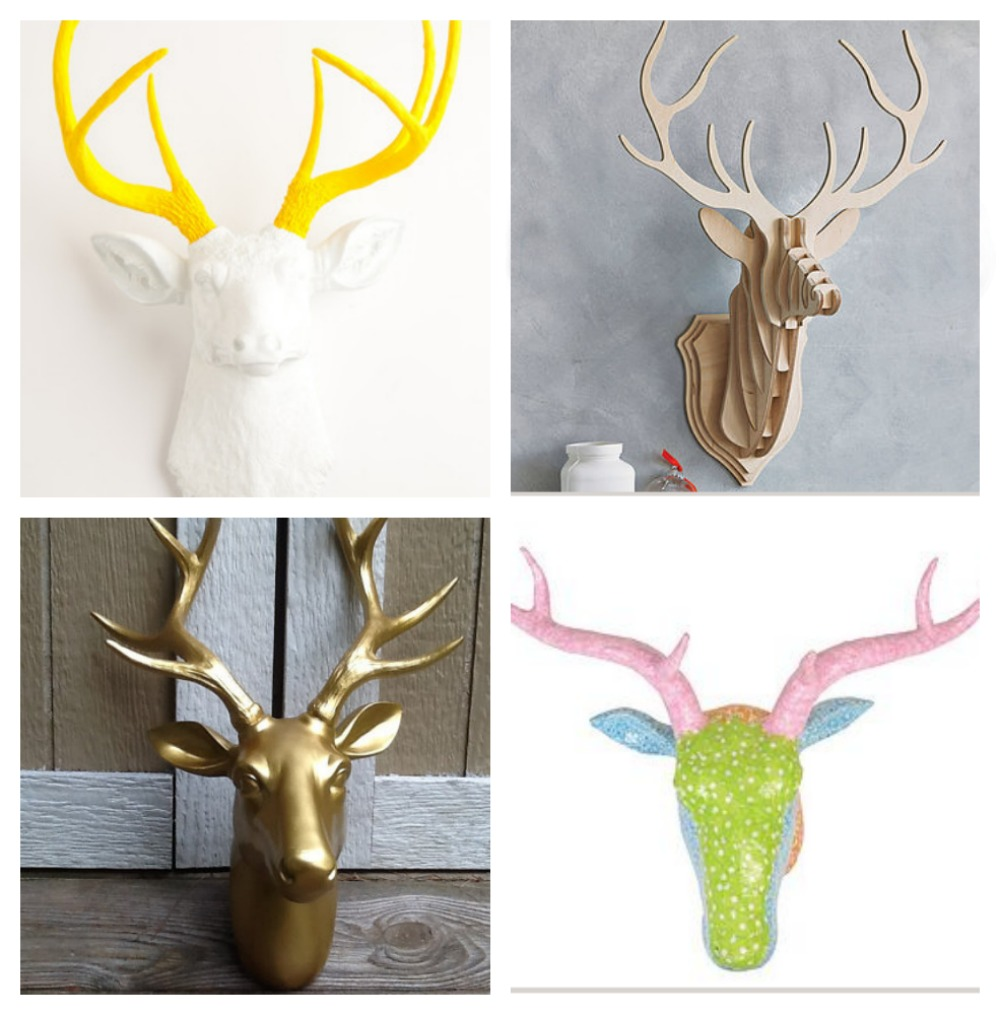 Home Decor Stag Head Prints Pillows Wall Accessories