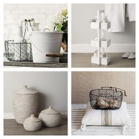 wire basket storage the white company