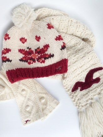 Winter Hollister Hat, Gloves, and Scarf Set