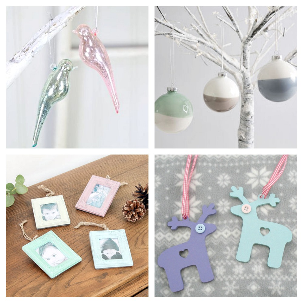 pastel christmas decorations