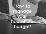 How to manage your household budget