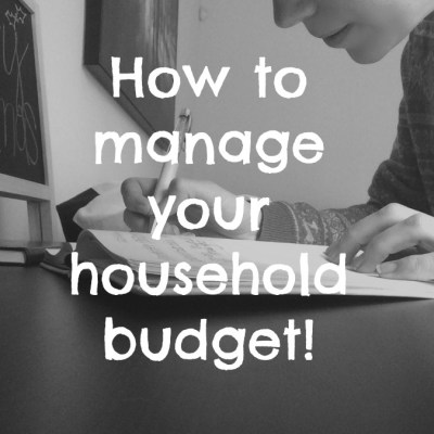 How to manage a household budget