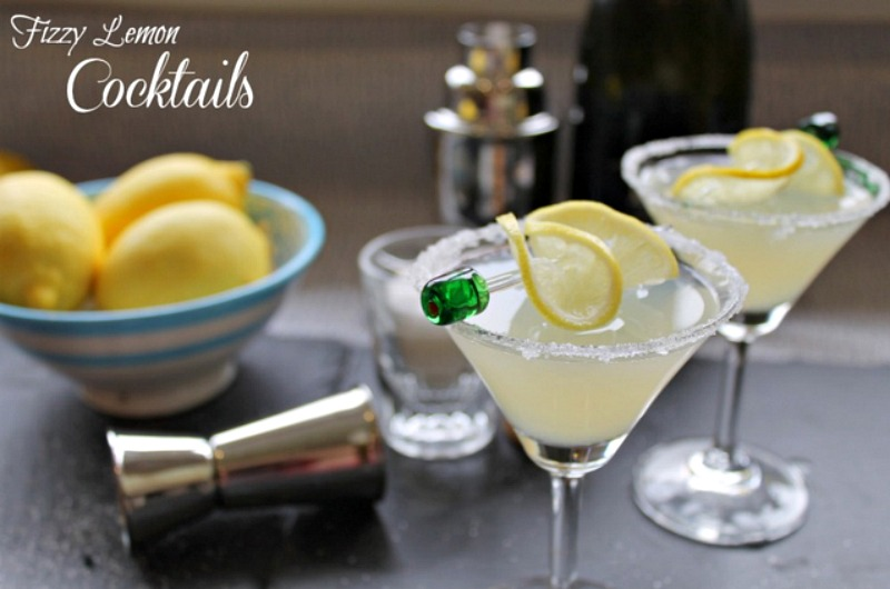 Fizzy Lemon Cocktail Recipe Christmas Cocktails