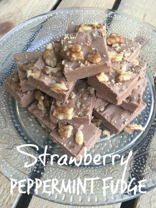 Christmas Fudge Strawberry Peppermint Fudge Recipe