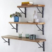 Home decor distressed reclaimed wood shelves