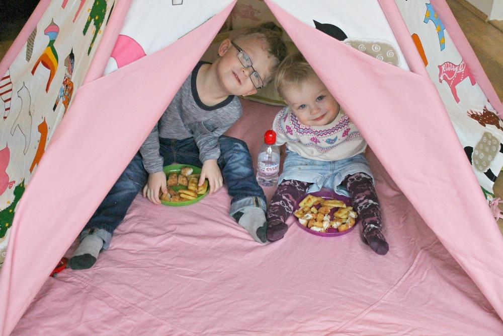 indoor tent picnic