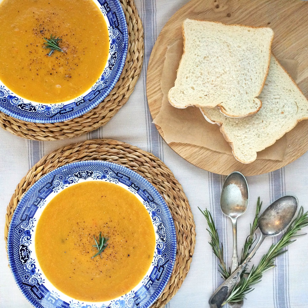 Butternut Squash Soup Recipe Food Photography