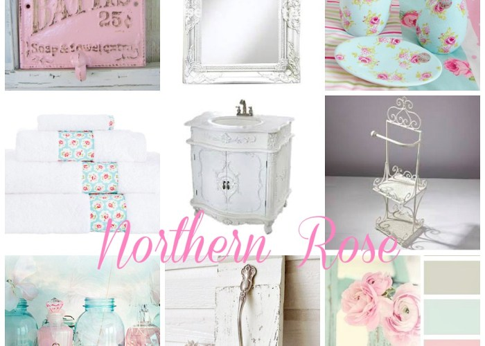A Vintage Northern Rose Bathroom