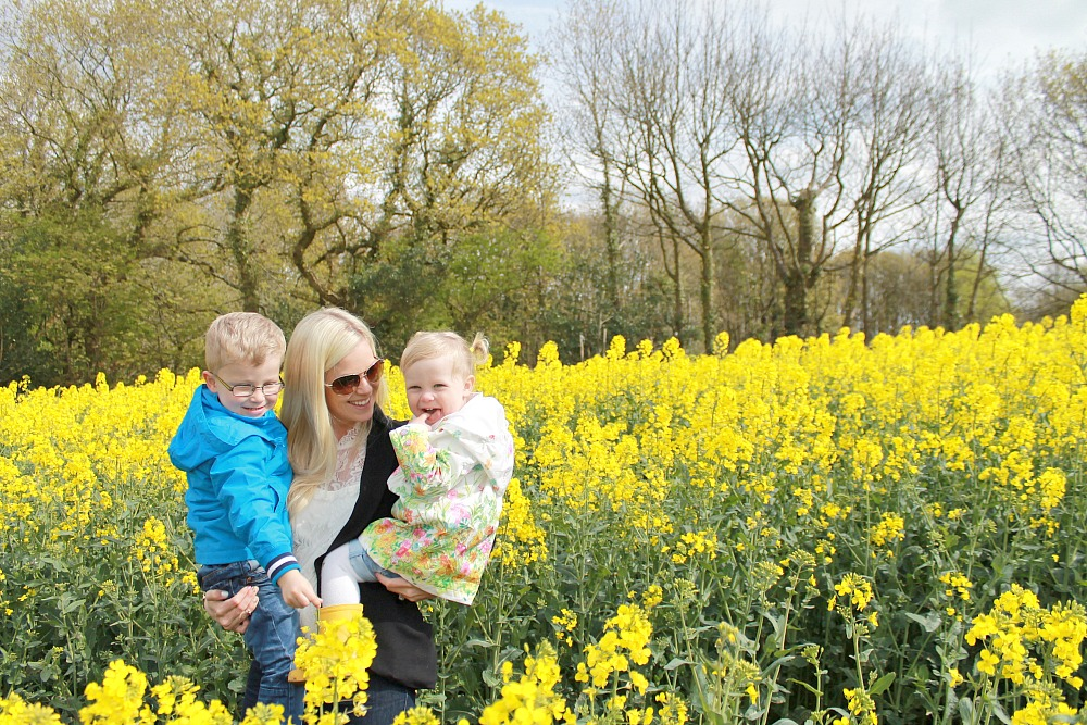 Yellow fields of family fun Rapeseed field photography