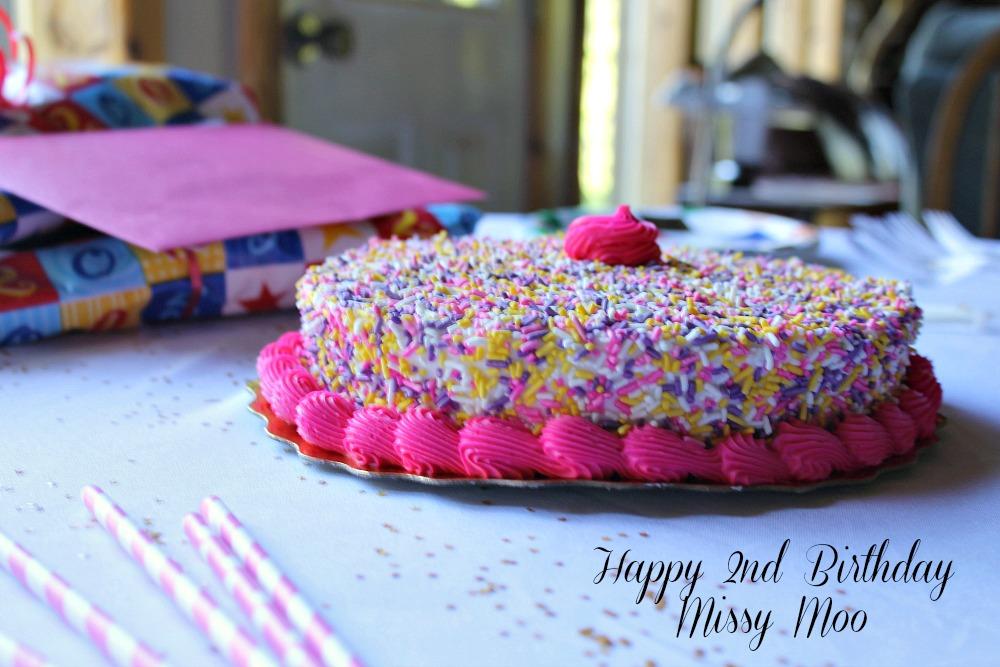 Happy 2nd Birthday party celebrations to Missy Moo