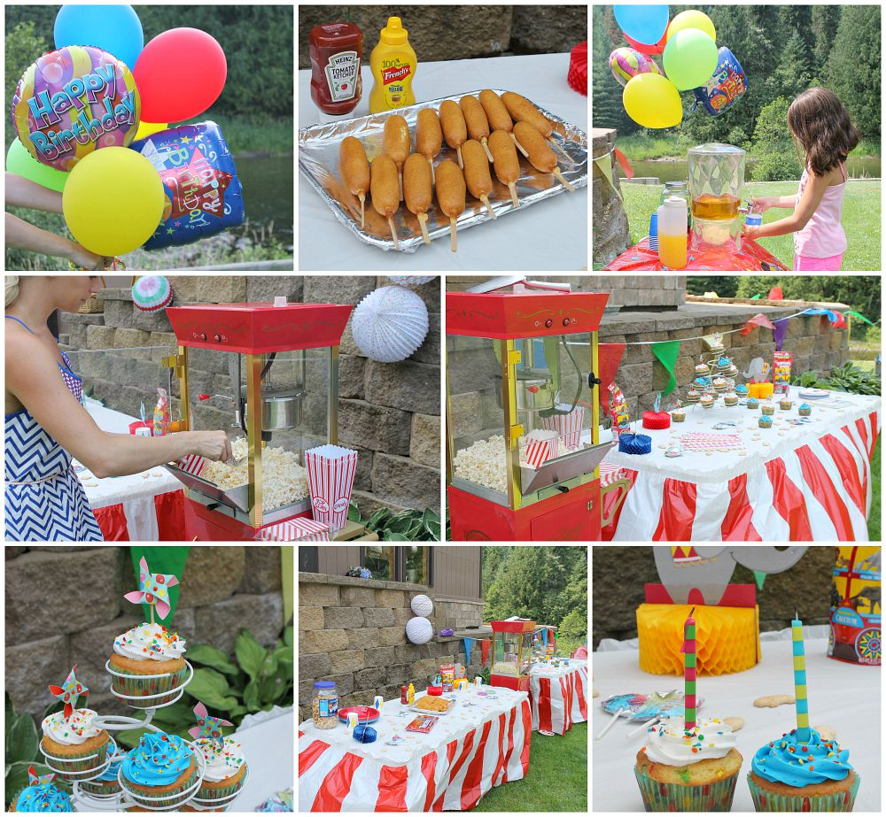 A double circus birthday party  turning 2 and 4 years old