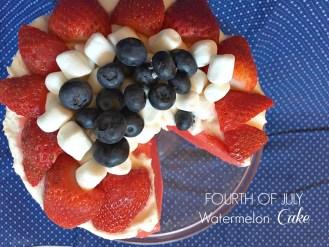 4th of July Watermelon Cake America