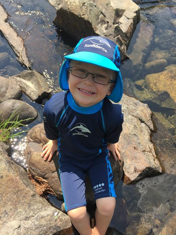 Konfidence Swimgear UV sun protection hats, shirts, shorts sun protection outfits for kids kids swimwear